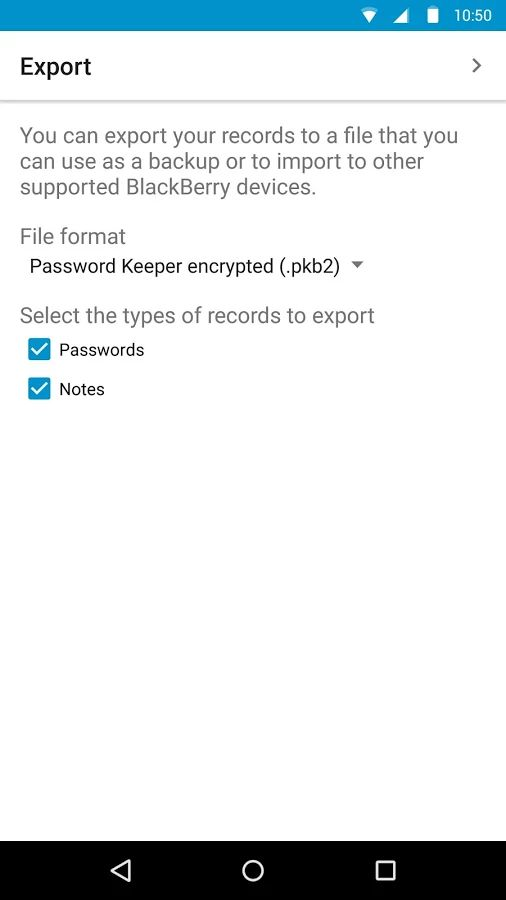 BlackBerry Password Keeper 1.7.0.135